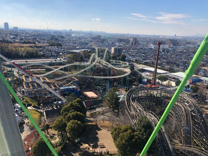 ひらかたパークの観覧車からの眺め