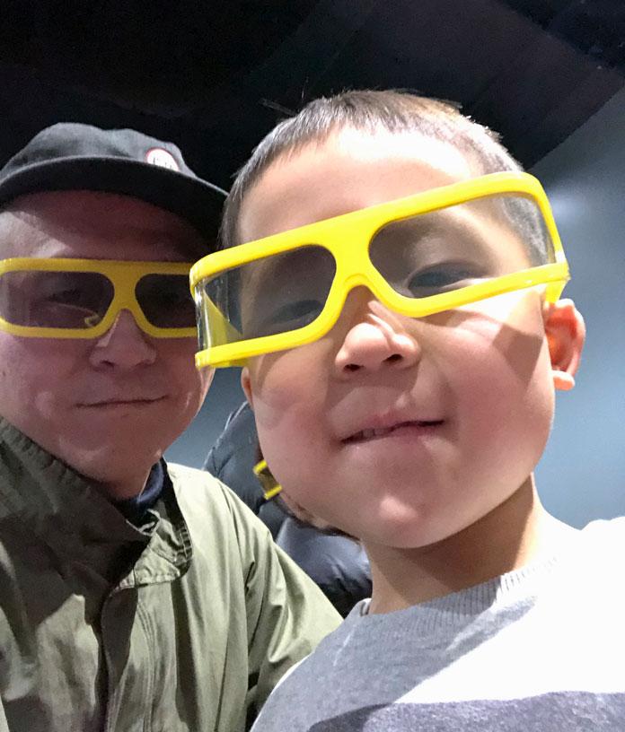 ひらかたパークの4Dキングの立体メガネ