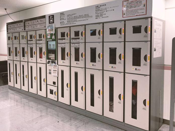 成田空港内のコインロッカー