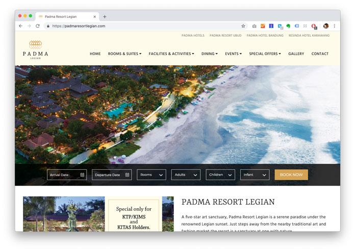 パドマ リゾート レギャン公式ウェブサイト