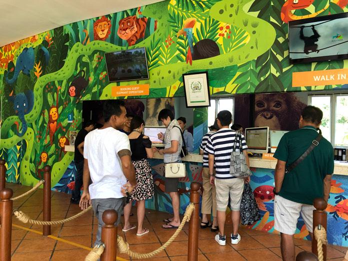 Bali Zoo(バリ動物園)チケット売り場