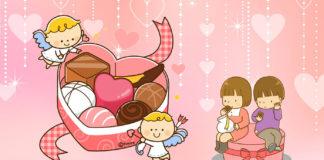 バレンタインデーを楽しむ子ども達