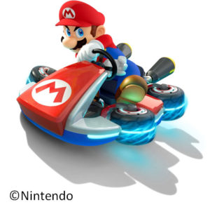 マリオカートで走るマリオ