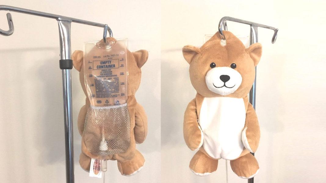 点滴袋用カバー Medi Teddy(メディテディ) の外観・表と裏