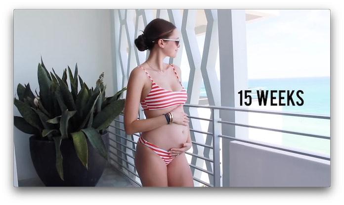 妊婦さんのおなか 妊娠15週