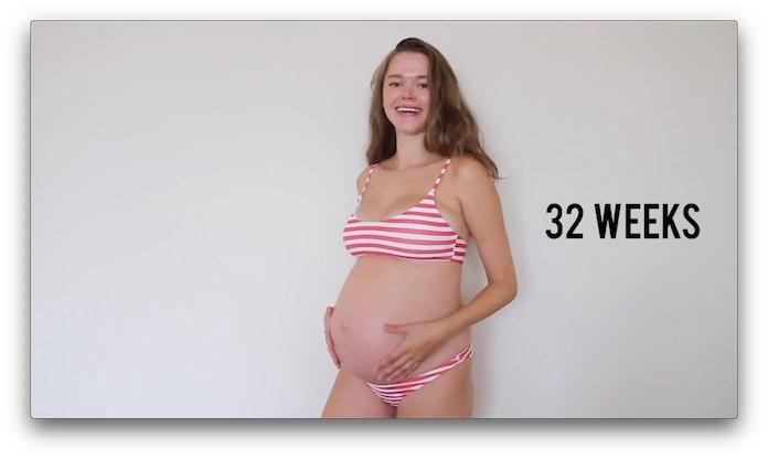 妊婦さんのおなか 妊娠32週