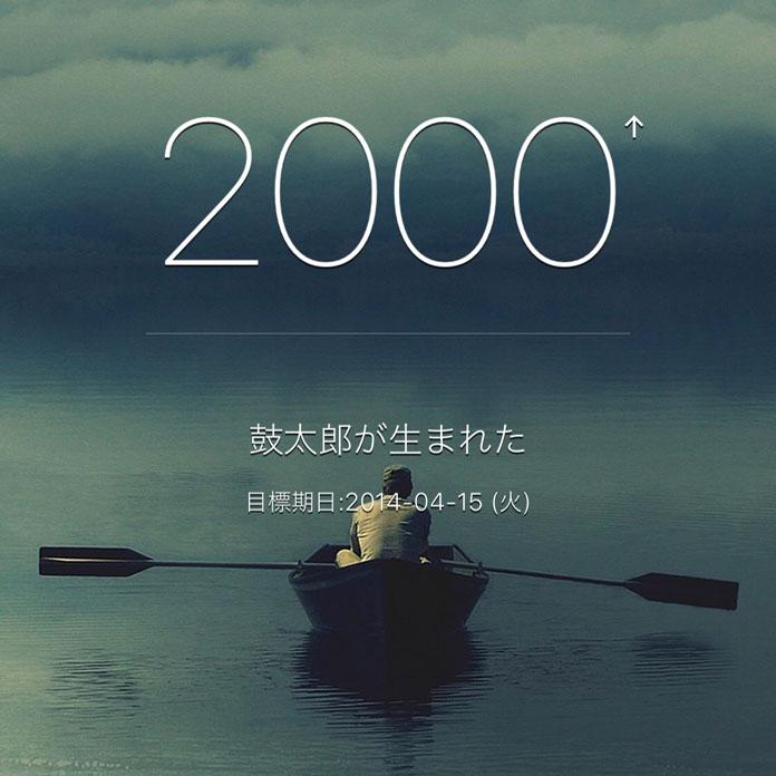 生まれてから2,000日