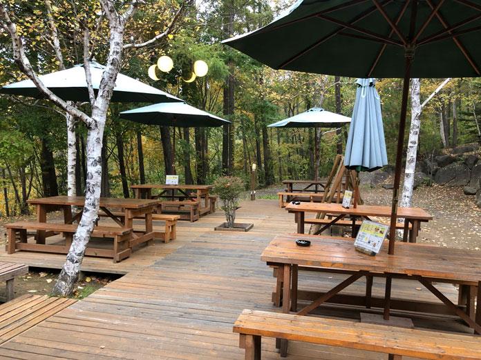 展望露天風呂「雲の助」の喫茶コーナー