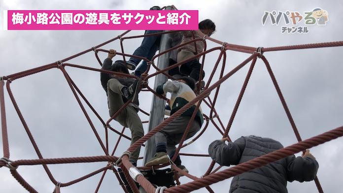 梅小路公園の遊具で遊ぶ子どもたち