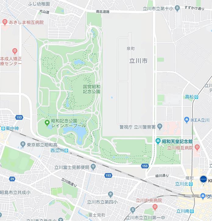 昭和記念公園は街一個分くらいの大きさです