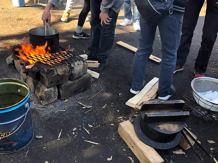 焚き火で自炊 羽根木公園プレーパーク