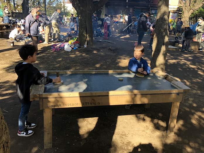 木製ホッケー 羽根木公園プレーパーク