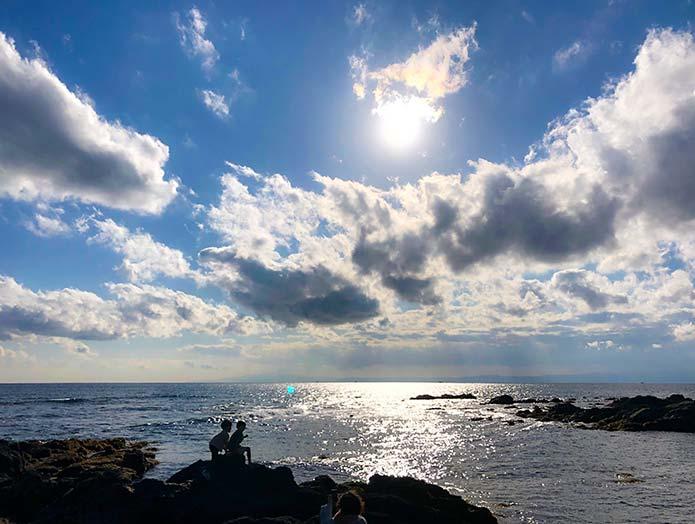 三浦半島の美しい海岸風景