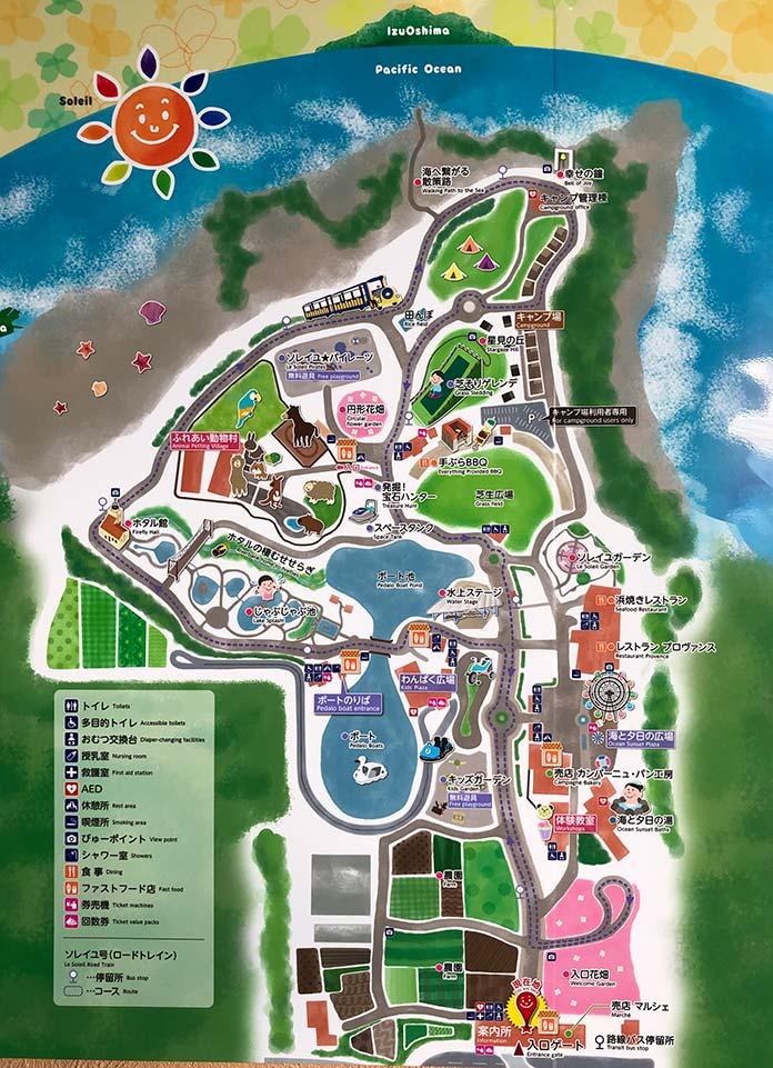ソレイユの丘の園内マップ