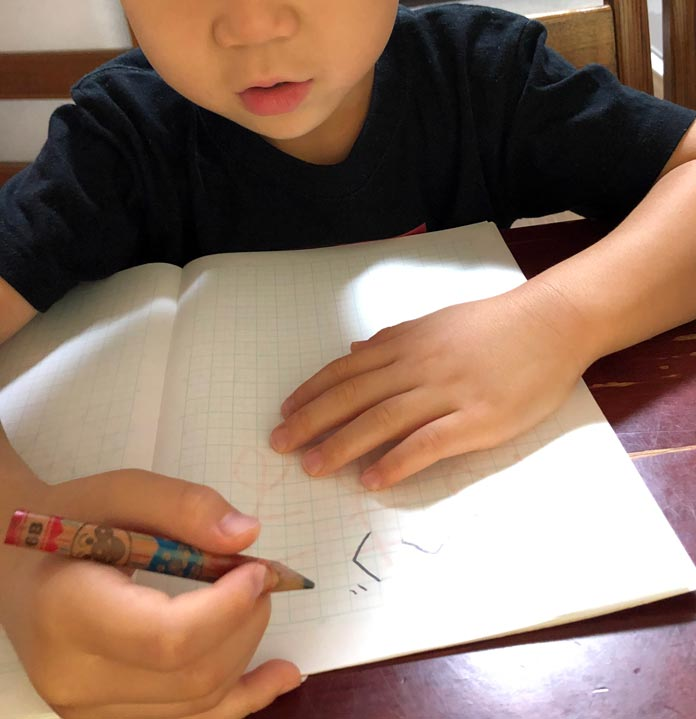 大事なことを書くノート 6歳の息子