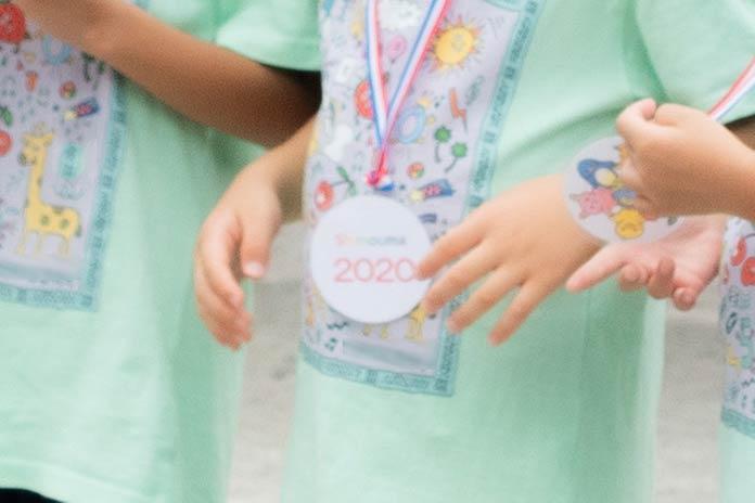 保育園の運動会で授与されたメダル