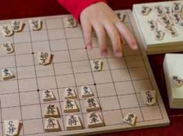 6歳の息子がクリスマスプレゼントにもらった将棋