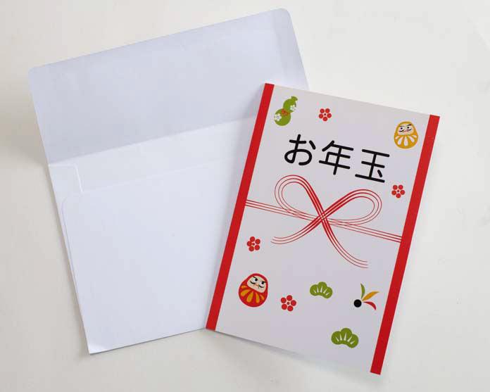 Amazonギフト券 お年玉デザインのカードと付属の白封筒