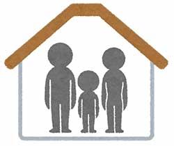 小さな家で親子3人暮らし