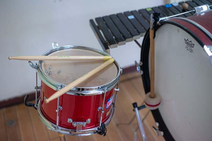 小太鼓、大太鼓、木琴
