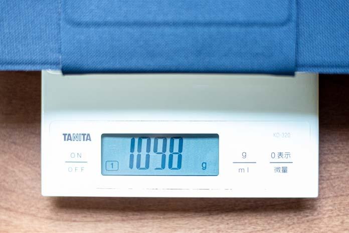 重量を測定 1098g