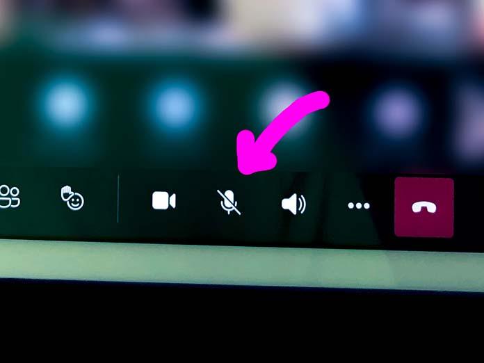 Microsoft Teams のミュートボタン
